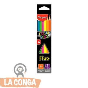 LAPICES FLUO MAPED x6